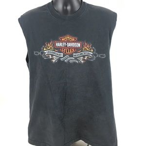 Laugerman's Harley Davidson Men's Sleevless Tee L
